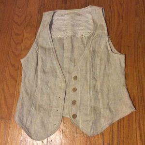 Coldwater Creek sz 10 Vest in excellent condition